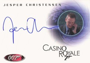 Rittenhouse Archives James Bond In Motion Autograph Card A107 Jesper Christensen as Mr. White in Casino Royale
