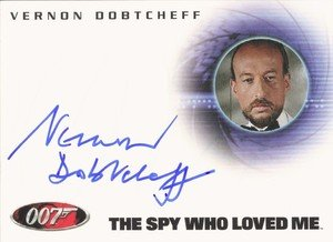 Rittenhouse Archives James Bond In Motion Autograph Card A121 Vernon Dobtcheff as Max Kalba in The Spy Who Loved Me