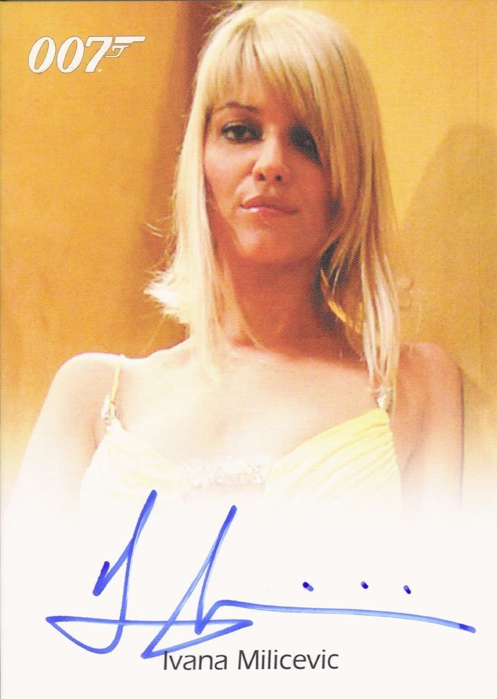 Rittenhouse Archives James Bond In Motion Autograph Card  Ivana Milicevic as Valenka in Casino Royale