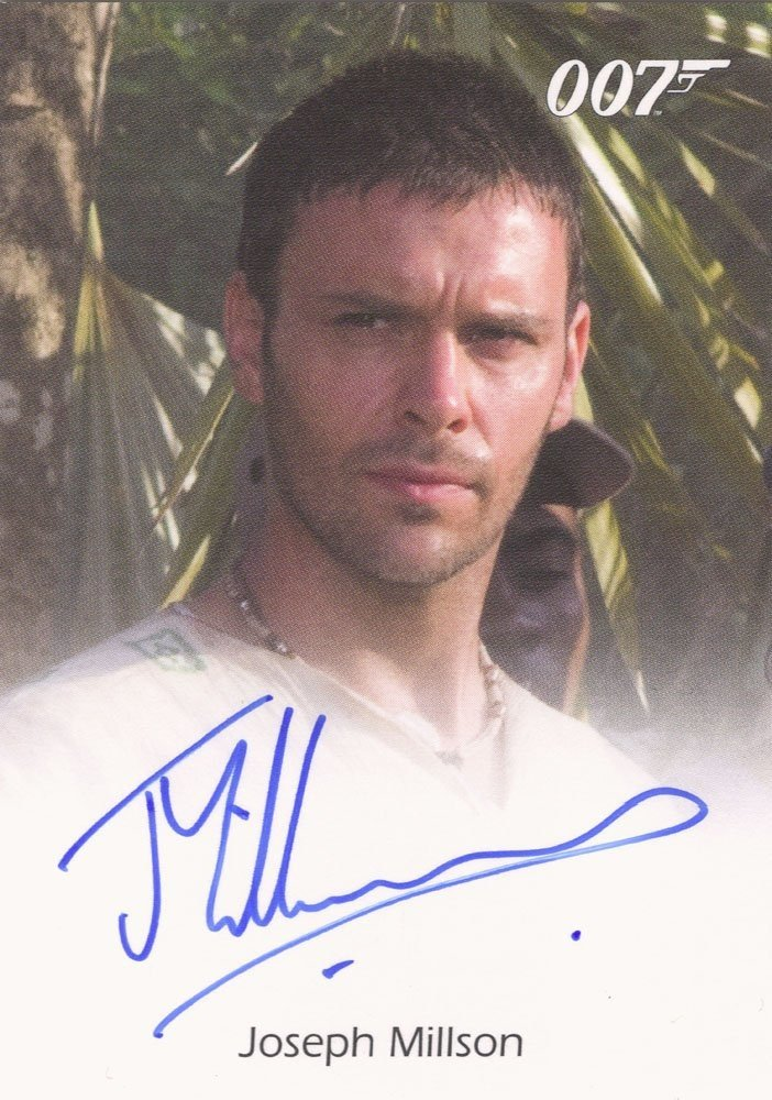 Rittenhouse Archives James Bond In Motion Autograph Card  Joseph Millson as Carter in Casino Royale