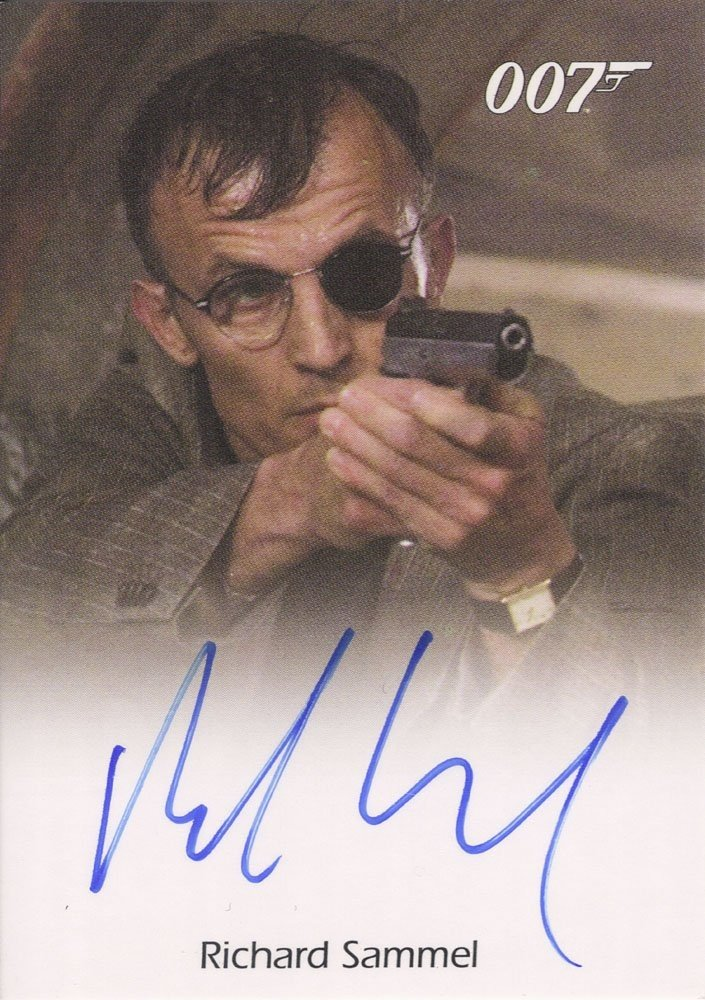 Rittenhouse Archives James Bond In Motion Autograph Card  Richard Sammel as Gettler in Casino Royale